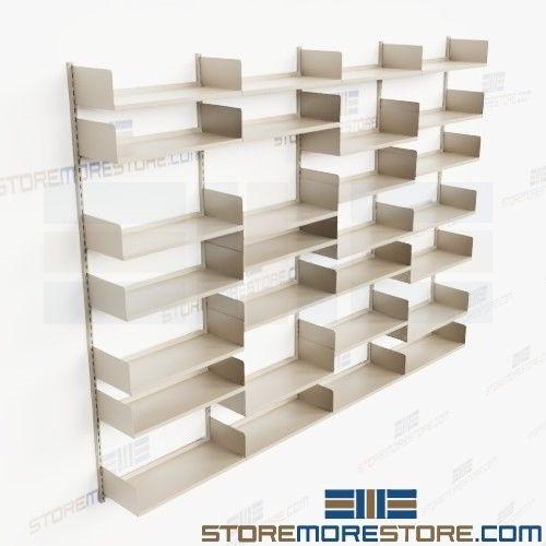 Floor To Ceiling Storage Shelves 12 Long Seven Adjule Levels Track Shelving