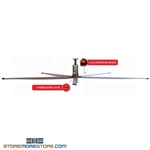 HVLS Industrial Ceiling Fan 12' Diameter with 5 Blades #SMS-36-5BL12