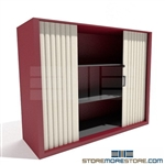 Locking File Shelving Cabinet with Tambour Door SMS-37-3848A3