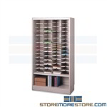 Metal Literature Sorting Cabinet Adjustable Mayline 4280ND1