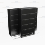 High Density 5 tier flipper door cabinets with Free Shipping, Stores end tab letter and legal files behind locked doors