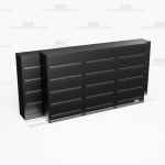 High Capacity 5 shelf flip and file cabinets with doors with Free Shipping, Stores end tab letter and legal files behind locked doors