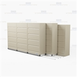 high density five level flipping door end tab cabinet with Free Shipping, Stores end tab letter and legal files behind locked doors