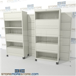 moving six tier shelf filing with doors with Free Shipping, Stores end tab letter and legal files behind locked doors