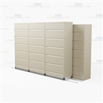 side to side rolling 6 shelf flipping door cabinet with Free Shipping, Stores end tab letter and legal files behind locked doors
