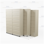 triple deep 7 level flipper door side tab cabinet with Free Shipping, Stores end tab letter and legal files behind locked doors