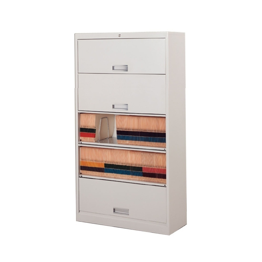 Five Tier Flipper Door File Shelf Cabinet With Free Shipping, Stores End  Tab Letter And