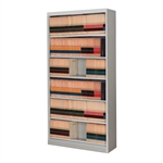 Six Level Side Tab Filing Cabinet without doors, comes assembled with free shipping, stores end tab file folders for shelf filing.