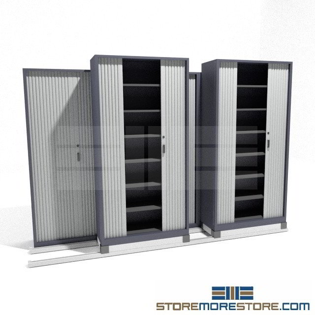 Storage Cabinet With Sliding Doors On Tracks 3 2 System 116 W X 38 1 D 85 H Sms 37 Fh3632