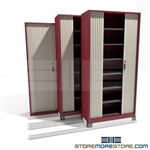 Sliding Door Cabinet for Securing Medical Charts on tracks SMS-37-FH42211