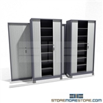 Adjustable Shelving Cabinet with Tambour Doors on tracks SMS-37-FH4232