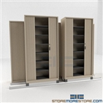 Professional Locking Filing Shelving with Sliding Doors on Rails SMS-37-FH4832