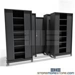 Quality Shelving Cabinets with Security Doors on Rails SMS-37-FH48322