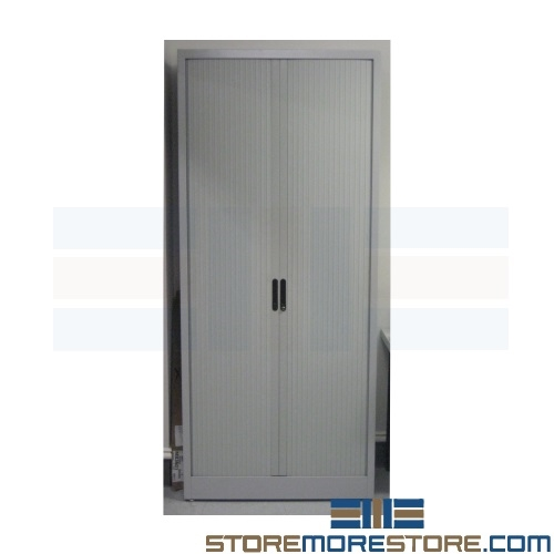 Side to Side Sliding Storage Cabinets with Doors Rolling on Tracks ...