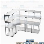 Computer Technician Workstation Network Furniture Storage Shelves Rack Mayline