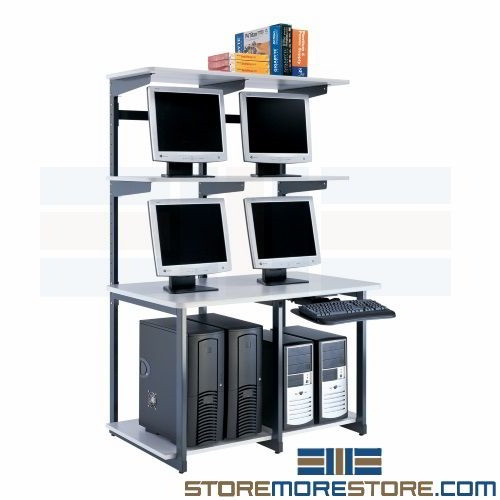 Computer Technician Workstation Network Furniture Storage