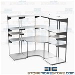 Server Room Furniture Network Monitoring Workstation Bench Shelves Mayline