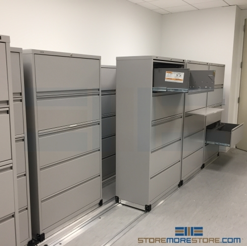 3 2 Rolling Lateral Filing Cabinets On Tracks 36 Quot Wide