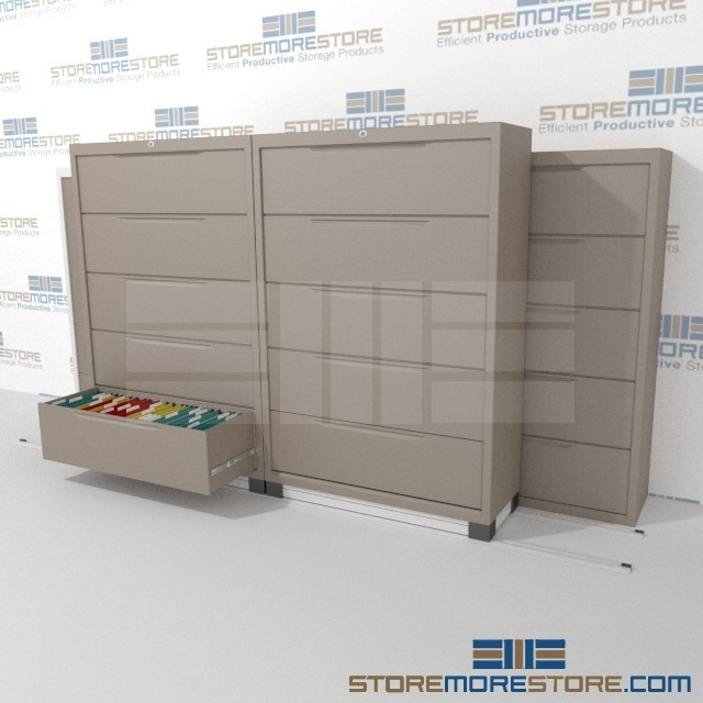 Rolling Lateral Filing Cabinet 3 2 Track System 137 Wide X 40 Deep 70 1 4 High Sms 37 Lat42532