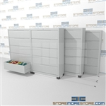 This Lateral File Cabinet storage system condenses and compacts to save your filing storage floor space and provide more space for desks and other equipment to generate revenue.