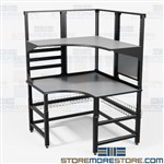 Technical Workstation Corner Workbench Assembly Tables Furniture Mayline TW4