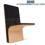 Hinged wall seats for medical facilities mount to the floor and fold down for temporary seating exam room, hospital patient room, healthcare waiting areas, they take up less room save space compared to traditional chairs