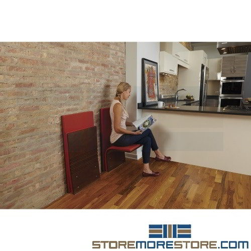 Flip Down Seating Floor Mounted Space Saving Compact