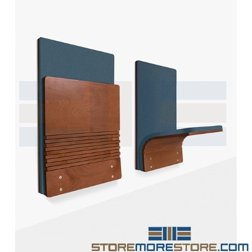 Fold Down Wall Mounted Seating Space Saving Compact
