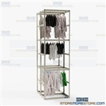 Hanging Uniform Storage Racks Garment Rods Three Levels Storing Police Vests