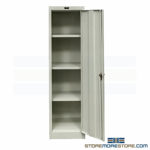 Slim Metal Storage Cabinet Tall Thin Locking Cabinet Solid Steel ...