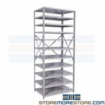 Open Antimicrobial Bin Shelving Racks Storing Medical Supplies Small Parts