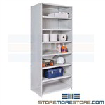 Closed Antimicrobial Shelving Surgical Storage Racks OR Medical Supplies Medsafe
