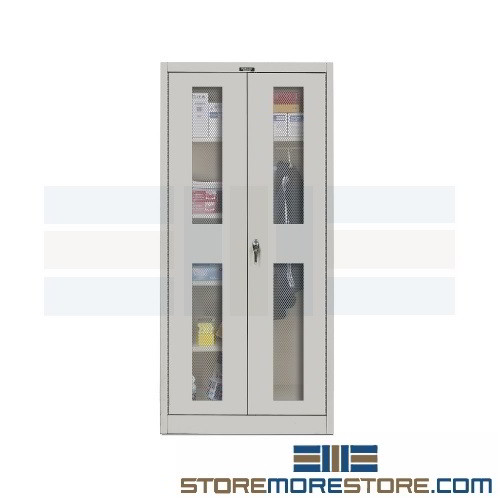 Alternative Views  sc 1 st  StoreMoreStore & Janitor Storage Cabinet Ventilation Doors Mop Broom Cleaning ...