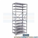 Open Medical Bin Shelving Metal Storage Racks Hospital Supplies Hallowell List