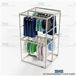 Retail Backroom Clothes Racks Hanging Storage Garments Rods Dresses Jackets