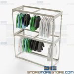 Theater Garment Storage Racks Hanging Wardrobe Shelves Rod Hangers Uniforms