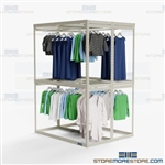 Double-Sided Hanging Garment Racks Storage Shelves Wardrobe Clothing Rods Hanger