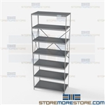 Open Shelving Beaded Post 36x18x87 | 7 Shelves Extra Heavy-Duty Steel Hallowell