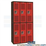 Fitness Lockers School Gym Athletic Locker Uniform Storage AWA282-222 Hallowell