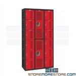 PE Storage Lockers School Gym Locker Rooms Gymnasium Hallowell AWA282-626