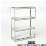 Wide Span Storage Racks Storing Bulky Items