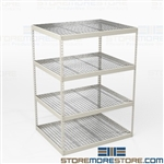 Long Span Storage Racks 4' Deep Heavy-Duty
