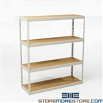 Bulk Storage Racks Industrial Double Rivet Shelf
