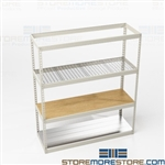 Boltless Bulk Storage Racks Steel Wood Shelves
