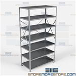 Open Shelving 48x24x87 | 7 Shelves Heavy-Duty Steel Shelving F5712-24 Hallowell