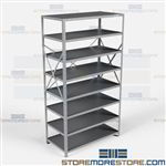Open Shelving 48x24x87 | 8 Shelves Heavy-Duty Steel Shelving F5713-24 Hallowell