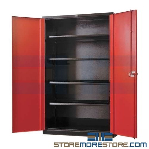 Steel Welded Double Door Storage Cabinet Industrial Heavy Duty
