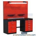 preconfigured workbench storage systems, woodworkers workbench, garage organization, lab workbench, Fort Knox workbench system, garage cabinets, steel workbench