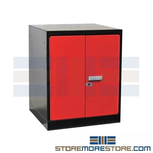 Excellent Workbench Pedestal Hinged Door Cabinet 18 W X 24 D X 32 H Sms 39 Fkwp8432 1Br Ht Ncnpc Chair Design For Home Ncnpcorg