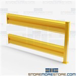 6' Warehouse Safety Barriers Forklift Yellow Guardrails Equipment Protection